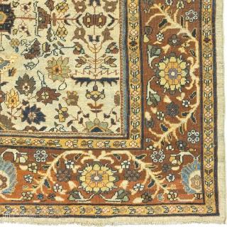 "Antique Persian Mahal Rug Persia ca.1920 11'10"" x 8'7"" (361 x 262 cm) FJ Hakimian Reference #06103"