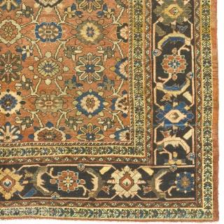 "Antique Persian Mahal Rug Persia ca.1890 11'11"" x 8'11"" (364 x 272 cm) FJ Hakimian Reference #06151"