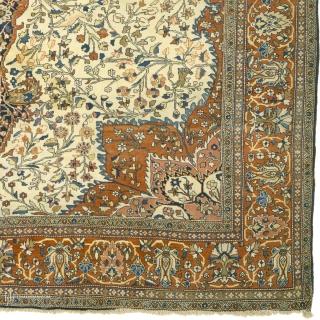 "Antique Persian faraghan sarouk Rug Persia ca.1890 11'11"" x 8'9"" (364 x 267 cm) FJ Hakimian Reference #10041"