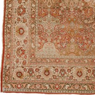 "Antique Persian Tabriz Rug Persia ca.1890 14'2"" x 10'3"" (432 x 313 cm) FJ Hakimian Reference #07149"