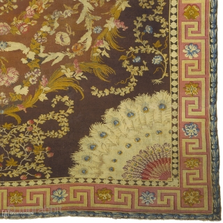 "Antique English Axminster Rug England ca. 1760 17'4"" x 15'2"" (529 x 463 cm) FJ Hakimian Reference #03002"