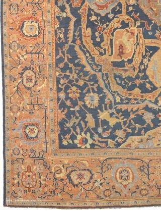 "Antique Persian Sultanabad Ziegler Rug Persia ca. 1890 17'4"" x 14'3"" (529 x 435 cm) FJ Hakimian Reference #06159"