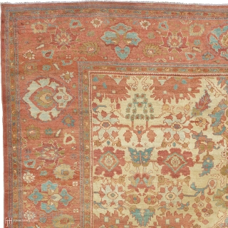 """Antique Persian Sultanabad Rug Persia ca. 1890 18'3"""" x 12'3"""" (557 x 374 cm) FJ Hakimian Reference #06188"""