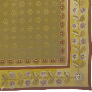 """Antique French Aubusson Rug France ca.1920 19'10"""" x 9'8"""" (605 x 295 cm) FJ Hakimian Reference #02066"""