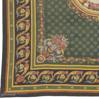 """Antique French Aubusson Rug France ca.1820 19'6"""" x 16'9"""" (595 x 511 cm) FJ Hakimian Reference #02072"""