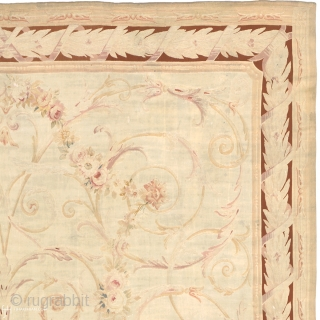 Antique French Aubusson Rug