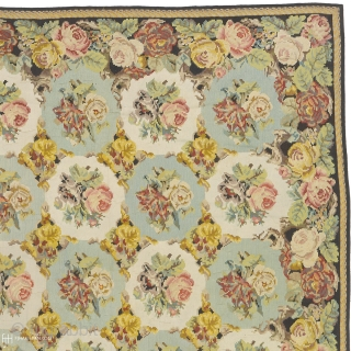 """Antique French Aubusson Rug France ca. 1920 23'1"""" x 14'10"""" (705 x 453 cm) FJ Hakimian Reference #02726"""