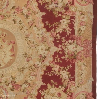 """Antique French Aubusson Rug France ca.1870 28'6"""" x 19'8"""" (870 x 600 cm) FJ Hakimian Reference #02082"""