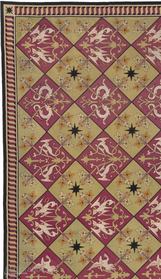"""Antique French Needlepoint Rug France ca. 1850 25'1"""" x 14'1"""" (766 x 430 cm) FJ Hakimian Reference #02443"""