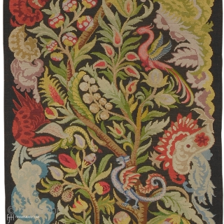 """Antique French Needlepoint Rug France ca. 1890 8'7"""" x 2'6"""" (262 x 76 cm) FJ Hakimian Reference #02168"""