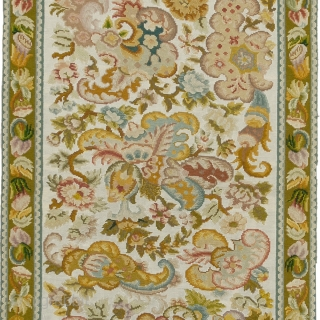 """Antique French Needlepoint Rug France ca. 1900 7'11"""" x 2'4"""" (242 x 71 cm) FJ Hakimian Reference #02172"""