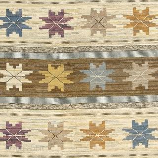 """Swedish Flat Weave Rug Sweden Initialed: MMF (Märta Måås-Fjetterström) 11'5"""" x 8'8"""" (348 x 264 cm) FJ Hakimian Reference #02895"""