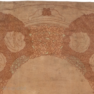 "Antique Viennese Rug Austria ca.1900 11'4"" x 10'7"" (346 x 323 cm) FJ Hakimian Reference #03128"
