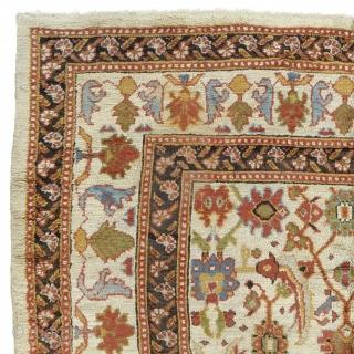 "Antique Turkish Oushak Rug Turkey ca.1890 9'0"" x 6'7"" (275 x 201 cm) FJ Hakimian Reference #04049"
