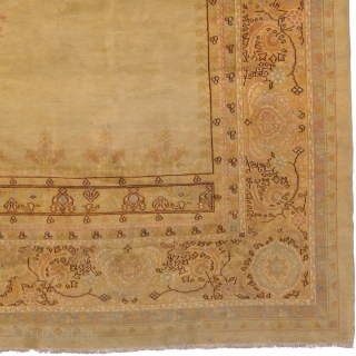 "Antique Turkish Oushak Rug Turkey ca.1920 14'6"" x 10'3"" (443 x 313 cm) FJ Hakimian Reference #04092"