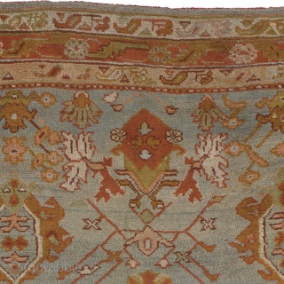 Antique Turkish Oushak Rug