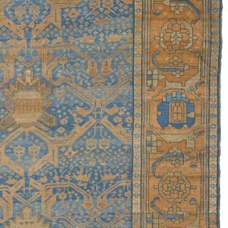 "Antique Persian Bakh-Shaiesh Rug Persia ca.1860 14'7"" x 11'5"" (445 x 348 cm) FJ Hakimian Reference #05059"