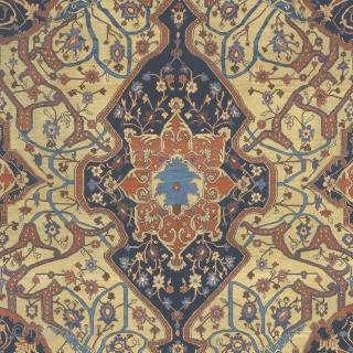 "Antique Persian Heriz Rug Persia ca.1820 8'9"" x 8'9"" (267 x 267 cm) FJ Hakimian Reference #05051"