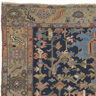 "Antique Persian Heriz Rug Persia ca.1900 12'0"" x 9'1"" (366 x 277 cm) FJ Hakimian Reference #05061"