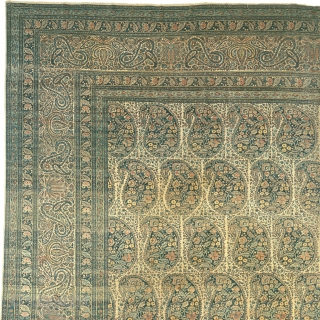 "Antique Persian Tabriz Rug Persia ca.1880 20'0"" x 13'6"" (610 x 412 cm) FJ Hakimian Reference #07002"