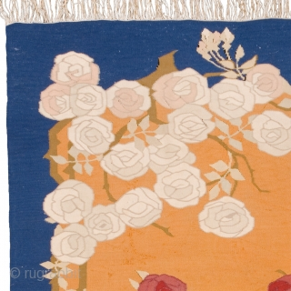 "Antique Swedish Flat Weave Rug Sweden ca. 1913 4'9"" x 4'4"" (145 x 132 cm) FJ Hakimian Reference #22129"