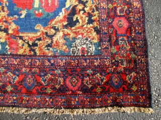 Awesome Antique Persian Seneh Rug.