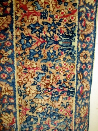 Gorgeous Antique Persian Laver Kerman Rug.