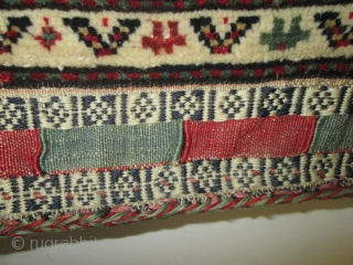 19th Century Qashgai  Bag.  size 21''x20'' condition perfect.lovely bag.silk wool.collective.