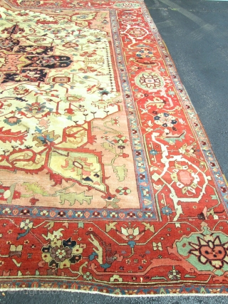 Stunning Antique Persian Serapi Rug.