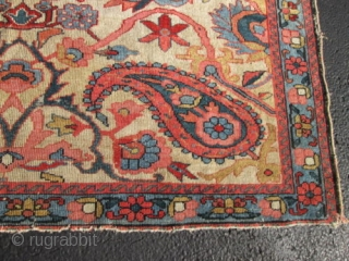 Unusual Antique Persian Malaer Rug.