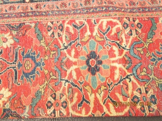 Fantastic Antique Persian Mahal Rug.  size 12'x9'.Circa 1920s.