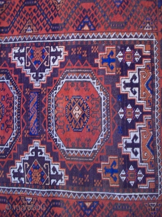 Baluch rug...5'3 by 3 ft...Pretty colors,attractive design...