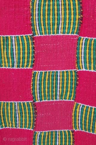 Kente Chief's Cloth aproximately 120 cm x 198 cm heavy cotton weave, very unusual item