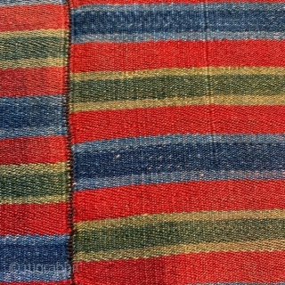 Tibetan apron, antique; wonderful patina fine wool, natural dyes 70 cm x 74 cm
