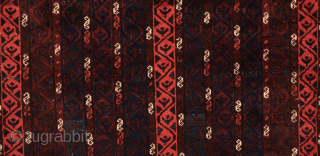 Very Fine and Unusual Beluch Rug circa 1880 size 110x112 cm in good condition and untouch