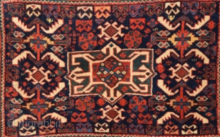 Very Fine Khamseh Bag 1870's size 48x72 cm