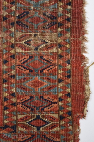 An Early Ersari Cuval circa 1850 size 70x140 cm as found it