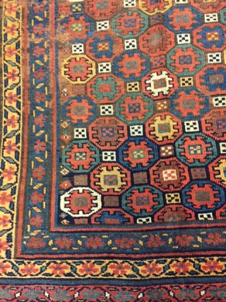 Shahsavan kurdish carpet size  363x137