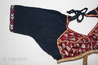 Child Backless(Choli) From Himachal Pradesh,Chamba India.C.1900.(DSL02240).