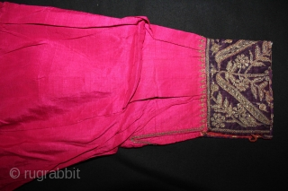 Silk Woman Kurta Decorated with Silver thread Embroidery from Pakistan north Punjab India.Circa.1900.(DSL02810).