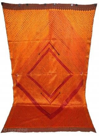 Phulkari from East (India) Punjab India Called As Bagh.Rare Design.Extremely Fine Phulkari.(DSL01800)