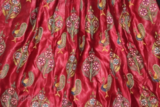 Mochi Embroidered Skirt From Kutch Gujarat India.Circa.1900.Extremely rare and fine quality chain stitched skirt.Made for the royal family.Its size is 87cm X 195cm.(DSL03660).