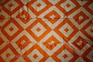 Vintage Bagh from West (Pakistan) Punjab India Called As Patang (Kati) Bagh. Rare Design.Extremely Fine Phulkari.(DSC001170).