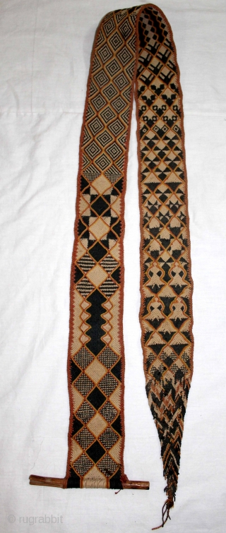 Rare Antique Tung The camel decoration belt from Rajasthan India.On Cotton and Vegetable Colour.Its size is 9cm X 166cm.One of the Rare Design.(DSL01840).