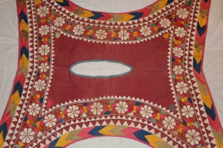 Camel Cover Decoration Appliqued work from Rajasthan India early 20th century.These are used for decorating camels at the time of Festival and Ceremonies.Generally they have very bright colors used in them but  ...