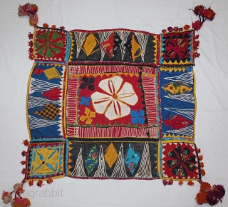 Banjara Embroidery,Ceremonial Square Applique work From Madhya Pradesh,