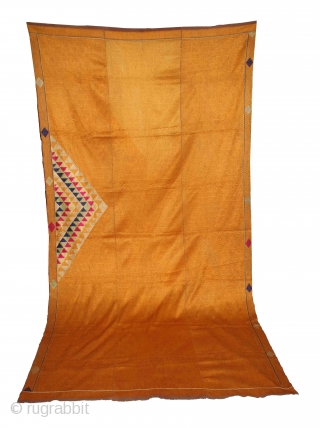 Vari-Da-Ghunghat-Bagh from West (Pakistan) punjab India Called As Panch Ranga Ghunghat. One of the rare design in Indian Phulkari.(DSC01320).