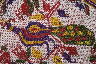 Door Wall Hanging Italian Bead work,Kathi londowning From Saurashtra Gujarat India.Very Rare Piece.Its size is 69cm X 72cm.(DSL01990).