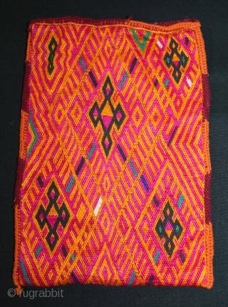 Three Ceremonial Banjara Bags, From Madhya Pradesh, India.C.1900.Silk & Cotton  Embroidered Brick Stitch.(DSL02530).