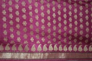 Rare Vintage Pitambari Saree hand woven zari (silver treads) saree from Varanasi called As Pitambari Saree of late 19th century.Made to order for some Royal Rajput Family.(DSL02070).